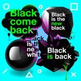 Black speech bubbles set Royalty Free Stock Image