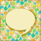 Black Speech Sign on Bubble Chat Pattern Royalty Free Stock Images