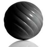 Black sphere. Royalty Free Stock Image