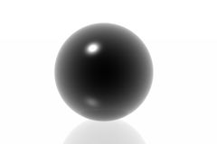 Black sphere Stock Images