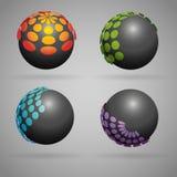 Black sphere Stock Photo