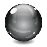 Black sphere Stock Image