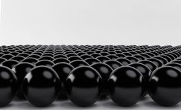 Black spheres an arrow on white background. 3d render. Ing Stock Photo