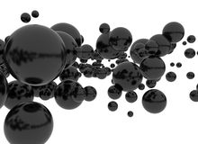 Black spheres Stock Photo