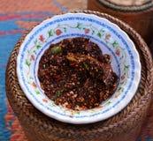 Black Spicy Chili Paste (Nam Prik) Royalty Free Stock Image