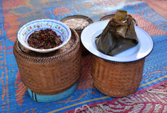 Black Spicy Chili Paste (Nam Prik) Royalty Free Stock Images