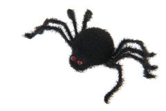 Black spider. Grizzly black spider for Halloween Royalty Free Stock Image