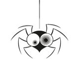 Black spider weighs Royalty Free Stock Photos