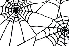 Black spiderweb as halloween background with isolated space Royalty Free Stock Images