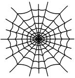 Black spiderweb isolated Royalty Free Stock Photography