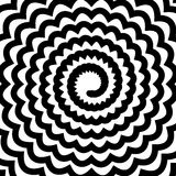 Black Spiral Background Stock Image