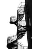 Black spiral staircase. Royalty Free Stock Photo