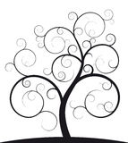 Black spiral tree. Illustration of black spiral tree Royalty Free Stock Image