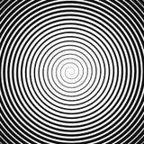 Black spiral on white vector illustration