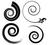 Black spirals Stock Images