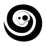 Black spirit. Spiral skeleton black spirit isolated on white Royalty Free Stock Image