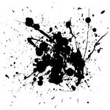 Black splat ink Stock Photos