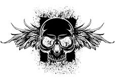 Black splatter skull Stock Photo