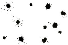 Black splatters Stock Photo