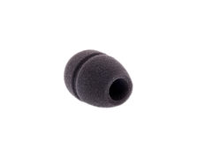 Black sponge cap for music microphone Stock Photos