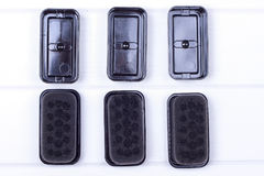 Black sponge for care of footwea Stock Photography