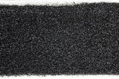 Black sponge with white canvas texture Stock Photography