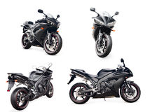Black sport bike Royalty Free Stock Photo