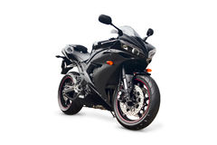 Black sport bike Stock Images