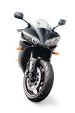 Black sport bike. On a white background Stock Image