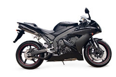 Black sport bike. On a white background Stock Photo
