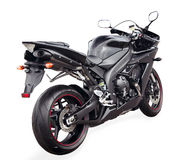 Black sport bike Stock Image