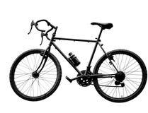 black sport bike on white background Royalty Free Stock Image