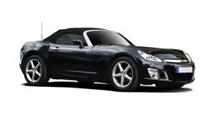 Black sport car Royalty Free Stock Images
