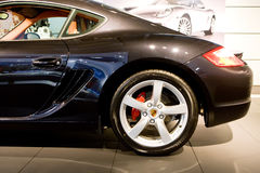 Black sport car Porsche Carrera Stock Image