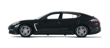 Black sport car. On a white background Stock Image