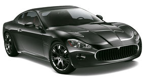 Black sport coupe Royalty Free Stock Photos