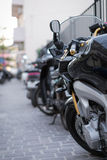 Black sport motorcycle. Stock Photography