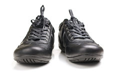 Black sport shoes Stock Images