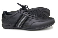 Black sport shoes Royalty Free Stock Photos