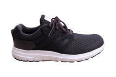 Black sport shoes on white background Stock Images