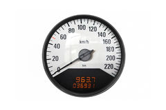 Black sport speedometer Royalty Free Stock Photo