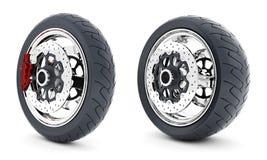 Black sport wheels Stock Photos