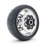 Black sport wheels Royalty Free Stock Photography