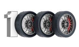 Black sport wheels Stock Images