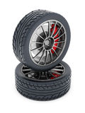 Black sport wheels Royalty Free Stock Photos