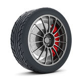 Black sport wheels Royalty Free Stock Image