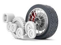 Black sporthjul Fotografering för Bildbyråer