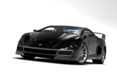 Black sports car 1 Stock Image