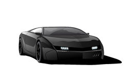 Black sports car Royalty Free Stock Image