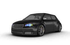 Black sports car Royalty Free Stock Photo